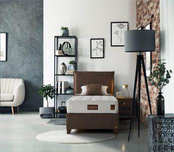 מיטה מרופדת עם ארגז מצעים דגם קאמפ+אודין