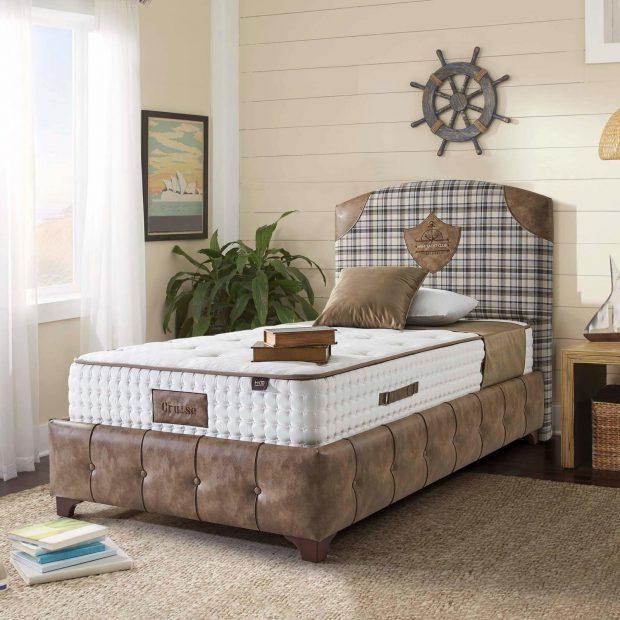 מיטה זוגית מרופדת עם ארגז מצעים דגם וולוט