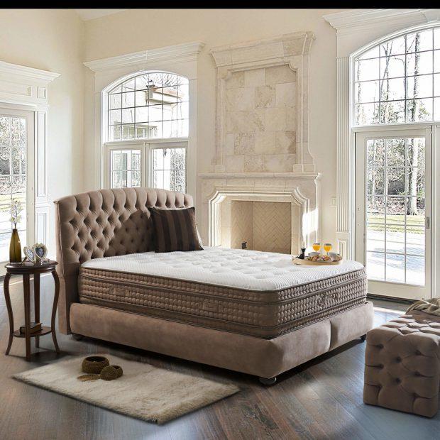 מיטה זוגית מרופדת עם ארגז מצעים דגם נובה