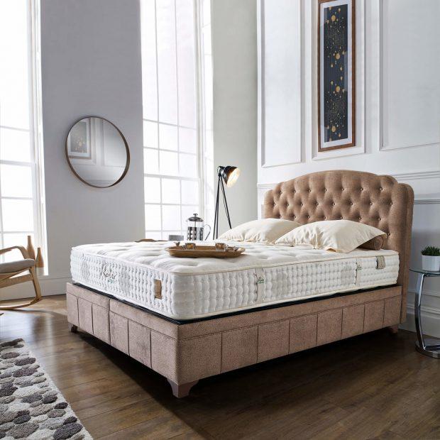 מיטה מרופדת עם ארגז מצעים דגם דיוה