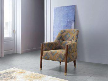 כורסא מעוצבת מרופדת לונה