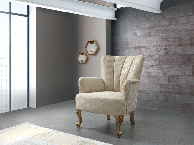 כורסא מעוצבת מרופדת דגם אליפסו