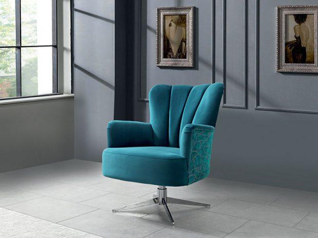 כורסא תכלת מעוצבת דגם אנימה