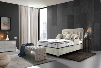 מיטה מעוצבת בסגנון מודרני
