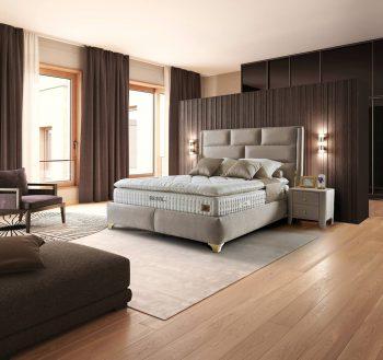 מיטה זוגית מעוצבת בסגנון מודרני