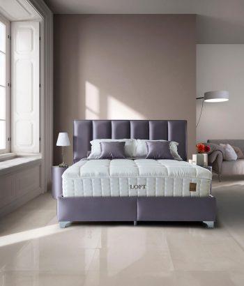 מיטה מעוצבת ומרופדת