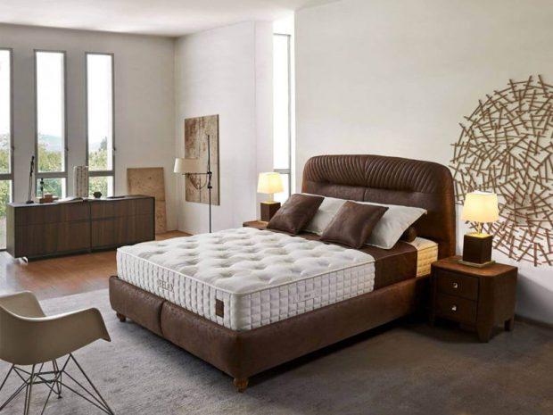 מיטה זוגית מרופדת ומעוצבת עם ארגז מצעים