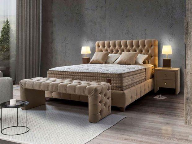 מיטה זוגית מרופדת עם ארגז מצעים דגם טומי