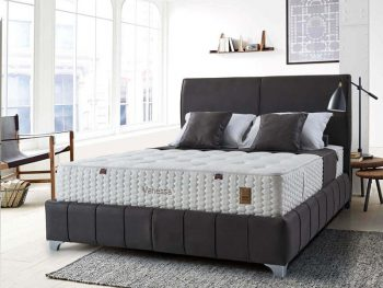 מיטה זוגית מרופדת עם ארגז מצעים דגם מיו+מוטו