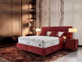 מיטה מרופדת עם ארגז מצעים אסטון