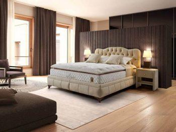 מיטה מרופדת עם ארגז מצעים דגם אנה