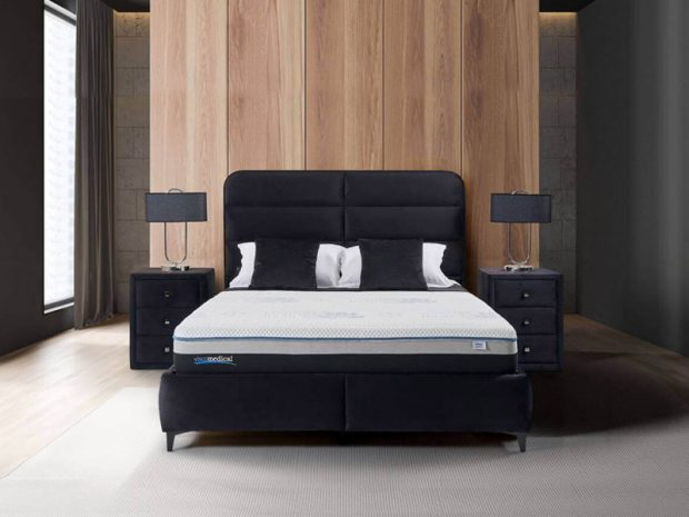 מיטה מרופדת עם ארגז מצעים ויטה