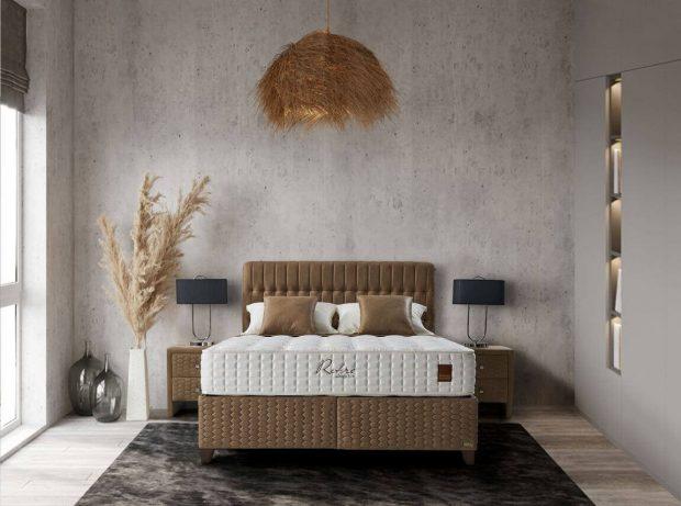 מיטה זוגית מרופדת עם ארגז מצעים