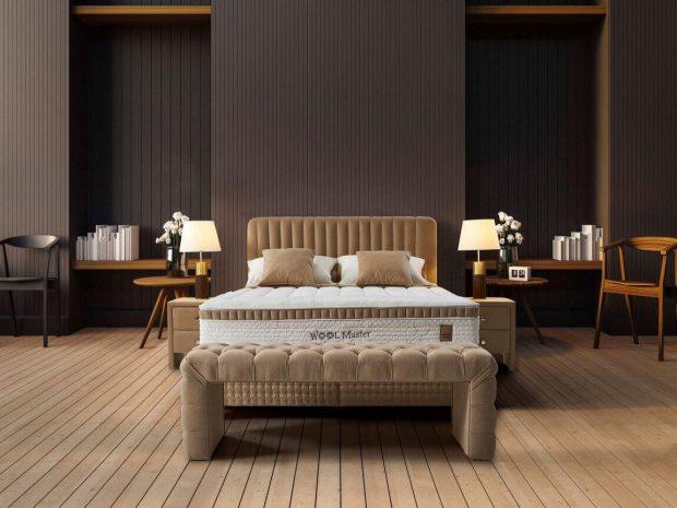 מיטה זוגית מרופדת עם ארגז מצעים פנדורה